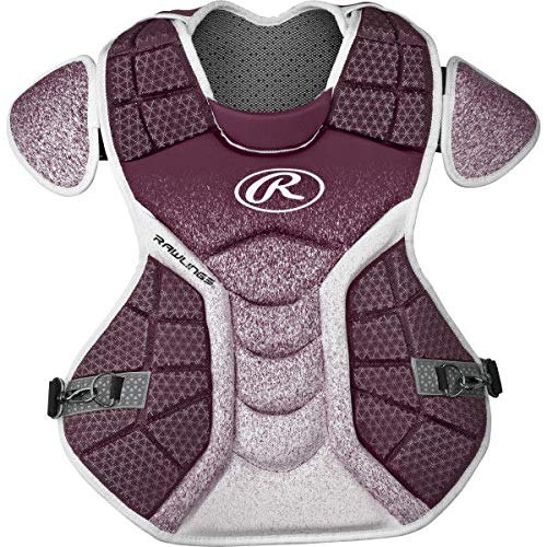 Rawlings Sporting Goods Catchers Velo Series Intermediate Chest Protector, 15.5'', Maroon/White by Rawlings