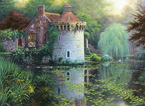 """Logeso(TM) Scotney Castle Garden Counted Cross Stitch Kit 16""""X12"""" 16 Count 52402"""