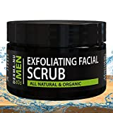 Exfoliating Facial Scrub for Men By Derma-nu - Unclogs Pores, Fights Acne and Prevents Ingrown Hairs - Natural & Certified Organic Ingredients - 4oz