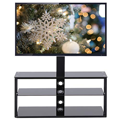 TAVR TV Stand Entertainment Center with Swivel Mount and Storage Shelves and 3-in-1 TV Stand for 32 37 42 47 50 55 60 65 inch Plasma LCD LED Flat or ()