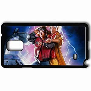 Personalized Samsung Note 4 Cell phone Case/Cover Skin A film trilogy back to the future delorean dmc 12 films Black