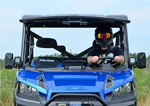 SuperATV Scratch Resistant Flip Windshield for Polaris Ranger Fullsize 570 / XP 900 / 900 Crew / XP 1000 / Diesel