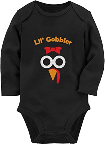 Thanksgiving Outfit for Baby Girl Boy Cute Turkey Face Funny Infant Bodysuit