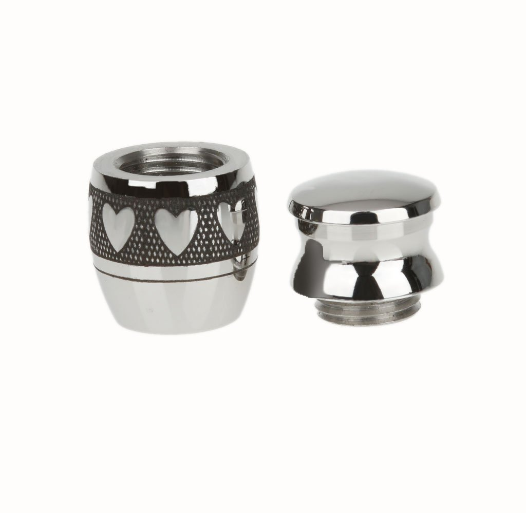 MagiDeal 2 Pieces//Lot Silver Stainless Steel Cremation Jewelry Keepsake Memorial Urn Ash Holder Jar Shape Openable