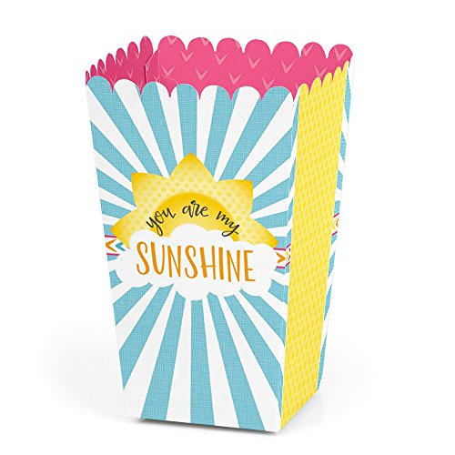 You are My Sunshine - Baby Shower or Birthday Party Favor Popcorn Treat Boxes - Set of 12 ()