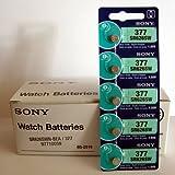 Sony Battery 377 (SR626SW) Silver Oxide 1.55V (100 Batteries Per Box)