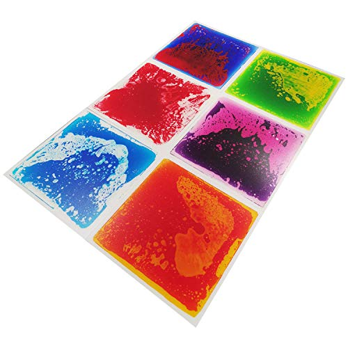 Art3d 6-Tile Multi-Color Exercise Mat Liquid Encased Floor...