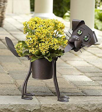 1800Flowers My Pet Plant Dog Planter with Yellow Kalanchoe Plant