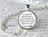 Sex and The City Necklace, Carrie Bradshaw Quote Pendant, TV Show Jewelry