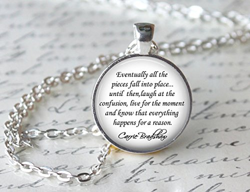 (Sex and The City Necklace, Carrie Bradshaw Quote Pendant, TV Show)