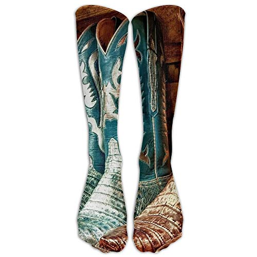 Holuday Long Dress Socks Casual Colorful Cowboy Boots Sport Comfortable Breathable Over-the-Calf Tube