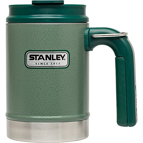 Stanley Classic Vacuum Camp Mug 16oz Hammertone Green,16-Ounce (Vacuum Classic Bottle Stanley)