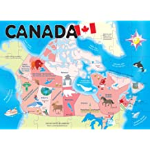 Ingenio Canada Map Floor Puzzle