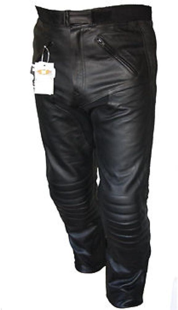 Pantalones protectores de cuero Sturgis para moto con certificación CE