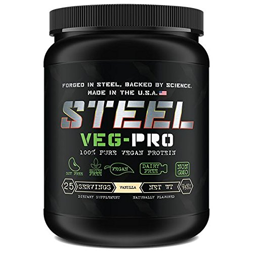 Gainer Double Vanilla Cream - Steel Supplements VEG-PRO Vegetable Pea Protein Isolate Powder Supplement Natural Organic Vegan 1.5 Pounds (Vanilla)
