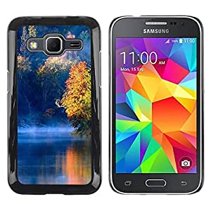LECELL -- Funda protectora / Cubierta / Piel For Samsung Galaxy Core Prime SM-G360 -- Nature Blue Lake --