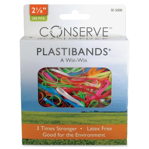 Baumgartens 2-1/8-inch Plastibands (BAUSF5000) Assorted Colors, 200 Pieces