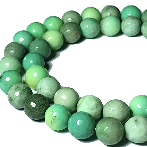 [ABCgems] Australian Chrysoprase AKA Australian Jade 6mm Faceted Round Beads ()