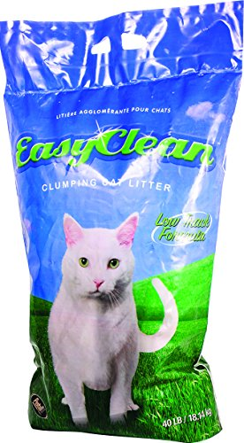 40lb Litter Bag Clumping Cat (Pestell Pet Products Easy Clean Low-Track Scoopable Litter, 40-Pound Bag)