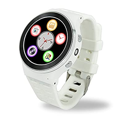 Efanr S99 redondo Bluetooth reloj inteligente Android 5.1 Quad Core muñeca teléfono SIM 3 G GPS