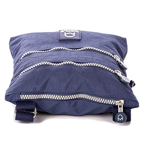 Mount BFF Noble Blue Nylon Crinkle Handbag Crossbody Dark Womens dTqqwfCgU