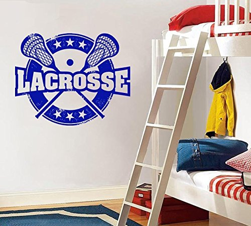 (Lacrosse wall,Sports,Wall decor,Wall Decal,Window Sticker,Vinyl sticker Handmade)