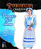 Colonial Pioneer Girls Costume Deluxe Prairie Dress for Halloween Laura Ingalls Costume Dress Up Party
