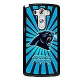 Michael Kruse(TM) LG G3 Case Ultra Slim NFL Carolina Panthers Football Team Logo Sports Design Hard Tpu Slim Fit Protective Phone Accessories Case Cover for Men