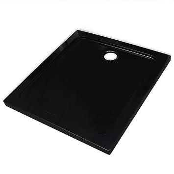 Vidaxl Receveur De Douche Abs Carre Noir 80x80 Cm Bac A Douche A