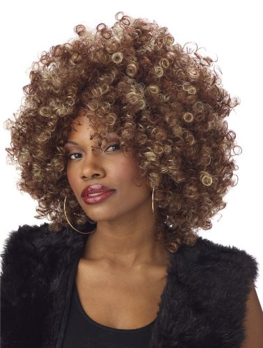 California Costumes Women's Fine Foxy Fro Wig,Brown,One (1970s Costumes Women)