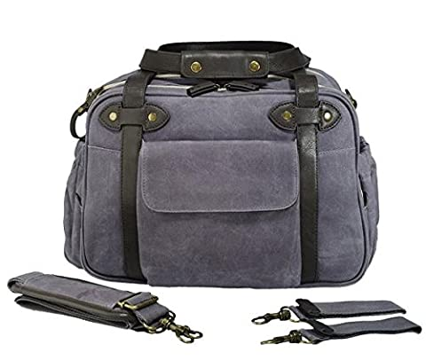 SoYoung Charlie Diaper Bag, Waxed Charcoal - 0 White Camber