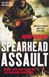 Front cover for the book Spearhead Assault: Blood, Guts and Glory on the Falklands Frontlines by John Geddes
