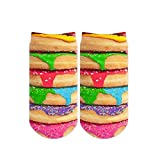 Sublime Designs SD06-SWT-DNT Photo-Real Donuts No-Show Socks