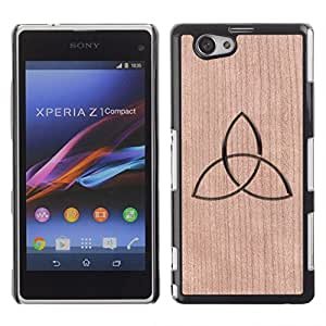 Funda Cubierta Madera de cereza Duro PC Teléfono Estuche / Hard Case for Xperia Z1 Compact D5503 / Phone Case TECELL Store / Regístrate Místico Band Music Zen Sign Mystical Band Music Zen