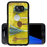 Luxlady Premium Samsung Galaxy S7 Edge Aluminum Backplate Bumper Snap Case IMAGE ID 27773628 leek and vintage kitchen utensils free copy space