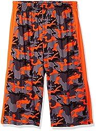 CB Sports Big Boys\' Printed Performance Athletic Short, TQ22-Came Print Neon Orange, 14/16