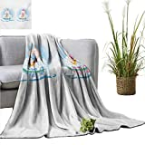 homehot Gender Reveal Blanket Sheets Cute Girl and Boy Babies in Bath