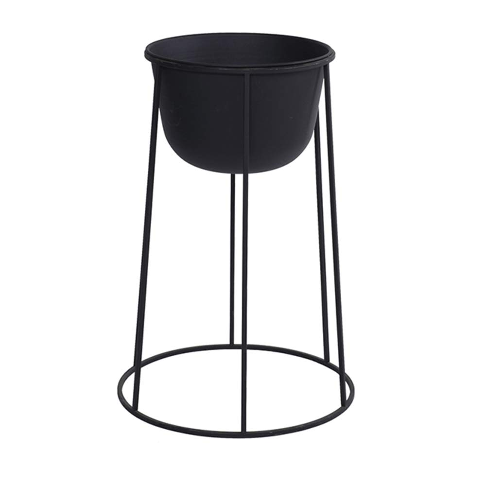 LJHA huajia Flower Stand, Nordic Iron Art Floor-Standing Flower Shop Restaurant Flower Stand (Color : Black, Size : 447732CM) by GYH Flower stand