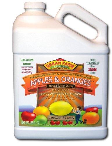 Urban Farm Fertilizers Apples & Oranges. Fruit & Citrus Fertilizer. 1 Gallon. Makes 256 gals. (Best Organic Fertilizer For Apple Trees)