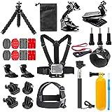 Neewer Action Camera Accessory Kit for GoPro Hero 7/6/5 Black Sliver Fusion/AKASO Brave 4/5, V50 Pro, EK5000, EK7000, EK7000 Plus/SJCAM/APEMAN,DJI OSMO Action and More for Outdoor Sports