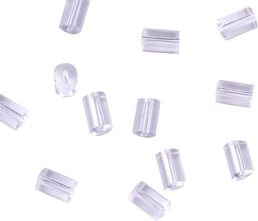 200pcs Soft Plastic Earring Backs Earnut Safety Stopper Findings Mini Craft 4mm