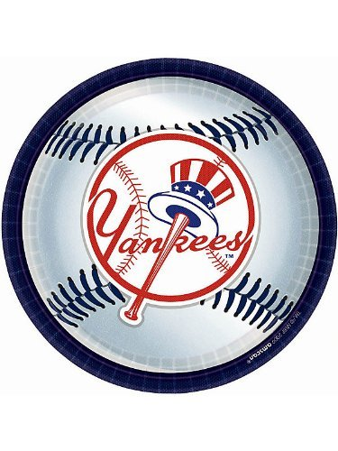 amscan Yankees Plates, 934; (18 Pack), -