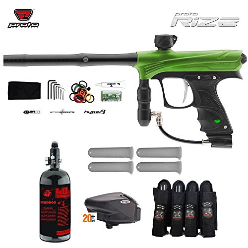 MAddog Proto Rize Advanced Paintball Gun Package - Lime Dust