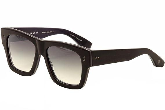 4b7627324f1 Dita Creator 19004-F Matte Charcoal Swirl Navy Black Silver Sunglasses  54mm  Amazon.co.uk  Clothing
