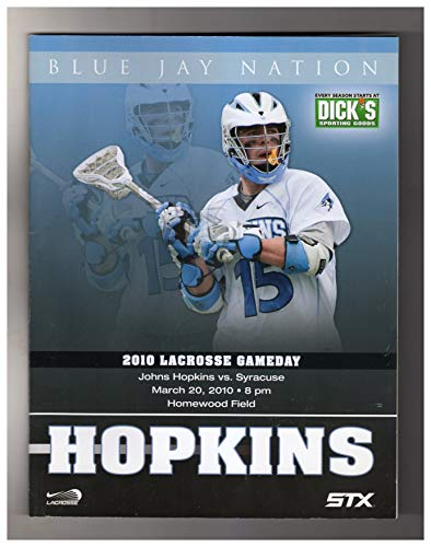 Blue Jay Nation 2010 Lacrosse Gameday Program - Syracuse at Johns Hopkins, March 20, 2010 ()
