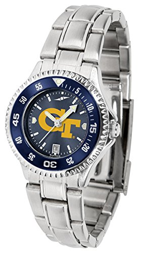 Georgia Tech Yellow Jackets Competitor Steel AnoChrome Women's Watch by SunTime
