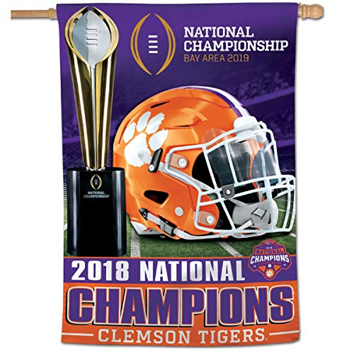 (Wincraft Clemson Tigers 2018 College Football National Champions House Flag)