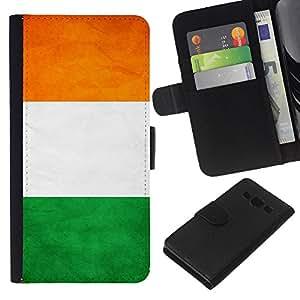 EJOY---La carpeta del tirón la caja de cuero de alta calidad de la PU Caso protector / Samsung Galaxy A3 / --Nación Bandera Nacional País Costa de Marfil