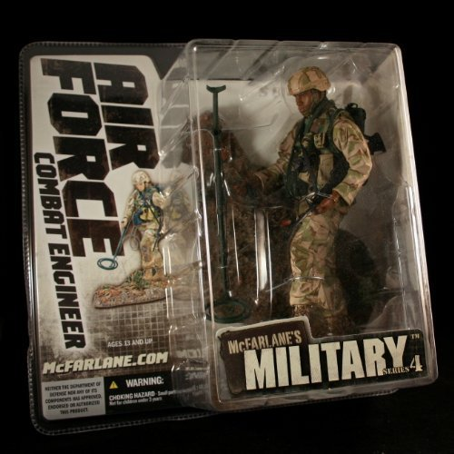 Marine Corps Combat Engineer - AIR FORCE COMBAT ENGINEER * AFRICAN AMERICAN VARIATION * McFarlane's Military Series 4 Action Figure & Display Base