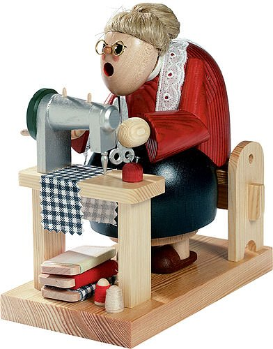 KWO Sewing Grandma German Christmas Incense Smoker Handcrafted in Germany New by KWO (Image #3)
